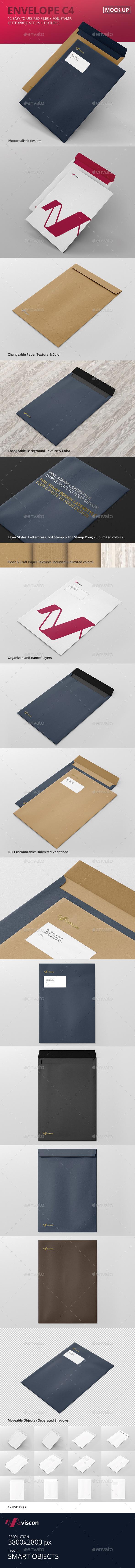 Envelope C4 Mock-Ups (Stationery)