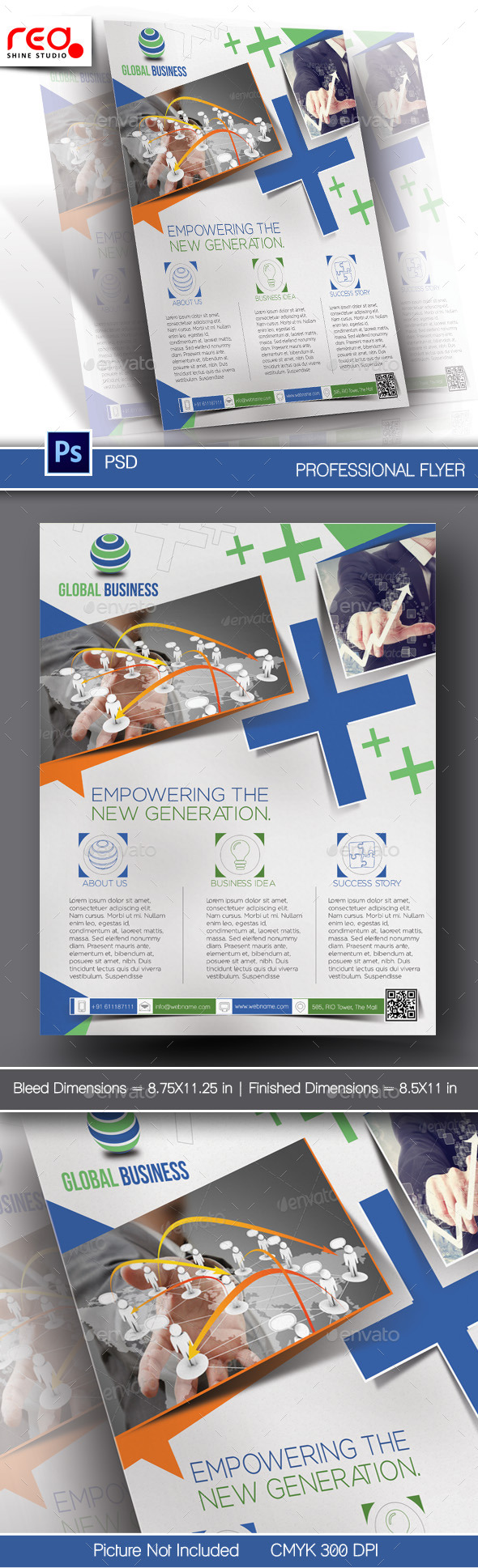 GraphicRiver Corporate Business Flyer & Poster Template 10796575