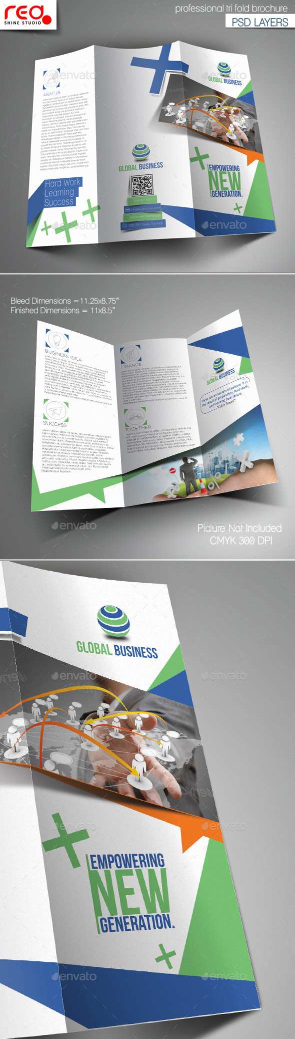 GraphicRiver Corporate Business Trifold Brochure Template 10796773