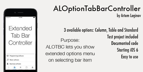 CodeCanyon ALOptionTabBarController Swift Obj-C 10470627
