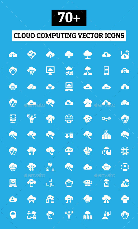 GraphicRiver 70& Cloud Computing Vector Icons 10796930