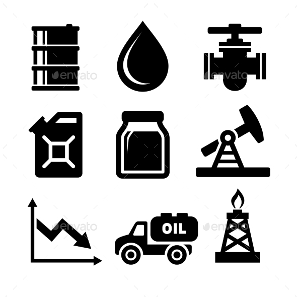 GraphicRiver Oil Icons Set 10796972