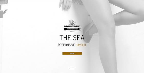 ThemeForest The Sea Responsive Coming Soon Page 10595702