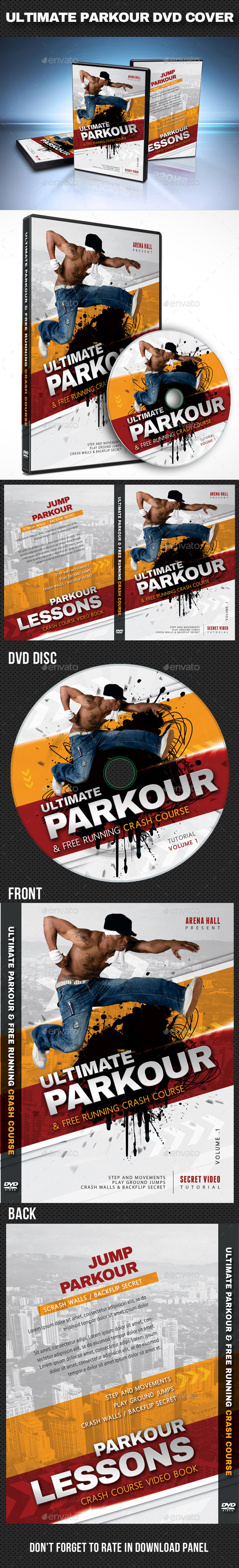 GraphicRiver Ultimate Parkour DVD Cover Template 10739648