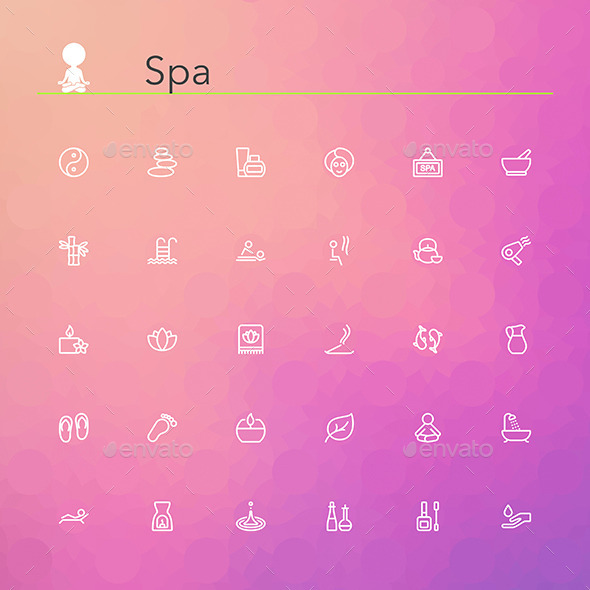 GraphicRiver Spa Line Icons 10797357