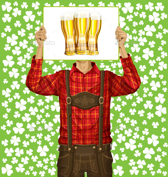 GraphicRiver Man With Write Board On St Patricks Day 10797410
