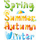 Seasons Typography - GraphicRiver Item for Sale