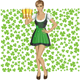 Vector Woman In Drindl On Saint Patricks Day - GraphicRiver Item for Sale