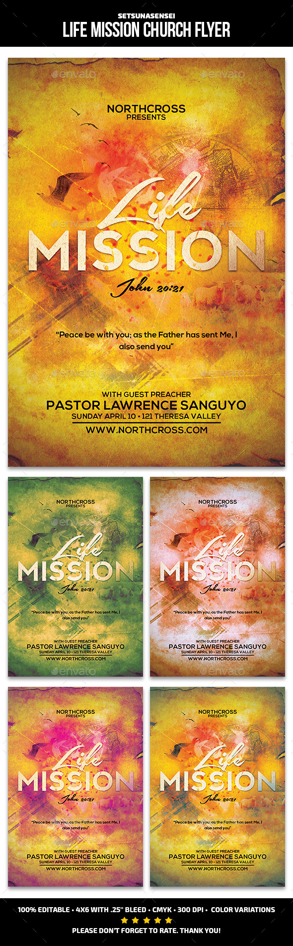 GraphicRiver Life Mission Church Flyer 10797631