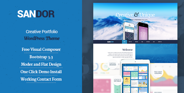ThemeForest SANDOR Creative Portfolio WordPress Theme 10797748