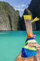 Traditional Thai boat and island of Phi Phi Leh - PhotoDune Item for Sale