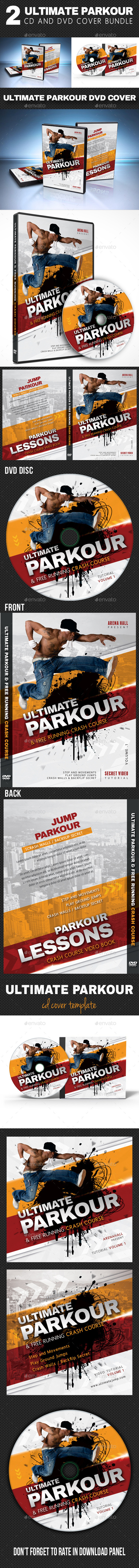 GraphicRiver 2 in 1 Ultimate Parkour CD and DVD Cover Bundle 10797808