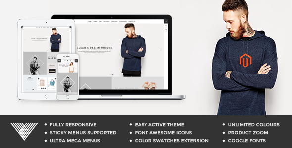 ThemeForest Vintage Responsive Fashion Magento Theme 10797839