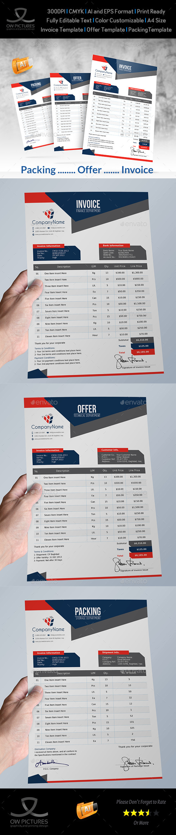 GraphicRiver Offer and Packing and Invoice Template Vol.2 10797876