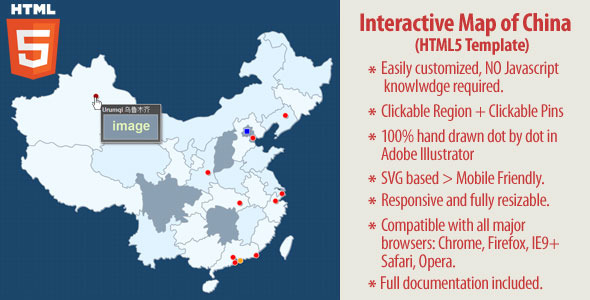 CodeCanyon Interactive Map of China HTML5 10797975
