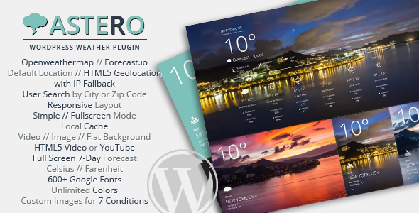 Astero WordPress Weather Plugin