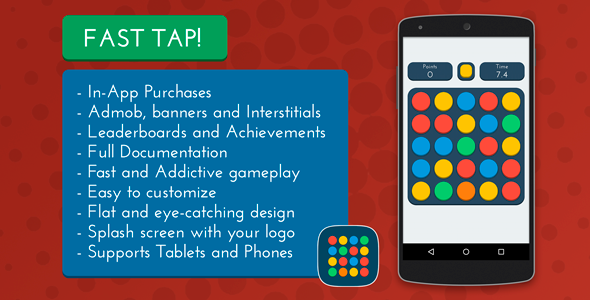 CodeCanyon Fast Tap Admob & Leaderboards & IAP 10798285