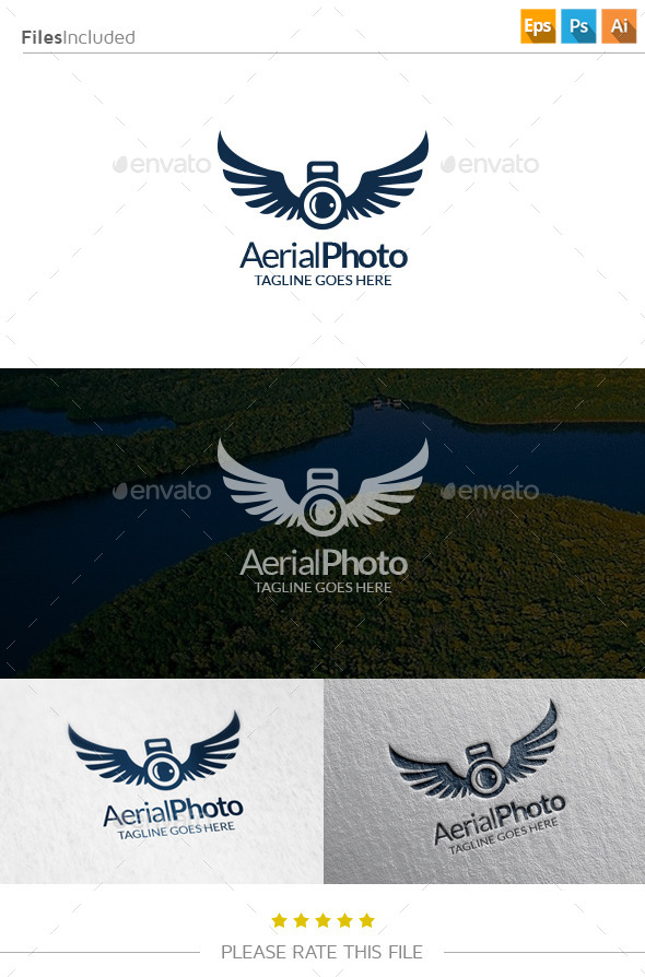GraphicRiver Aerial Photo Logo 10798402