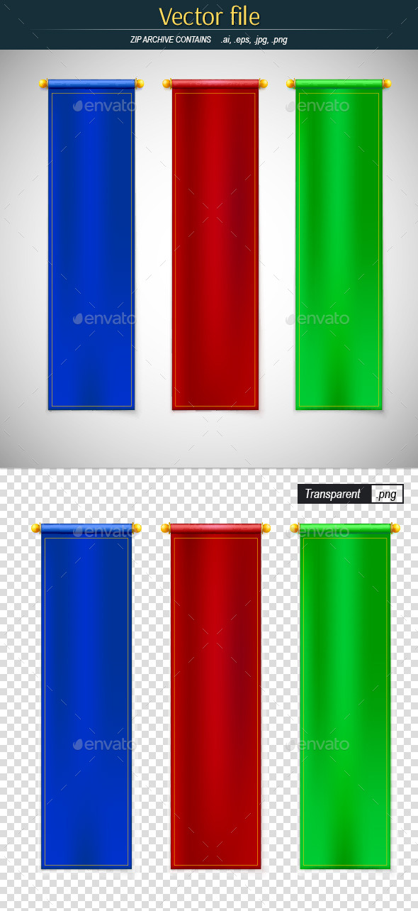 GraphicRiver Vertical Ceremonial Flags 10798879