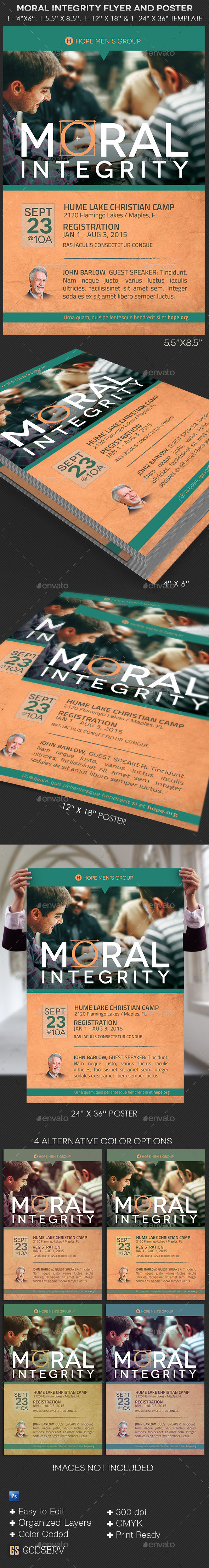 GraphicRiver Moral Integrity Church Flyer and Poster Template 10798952