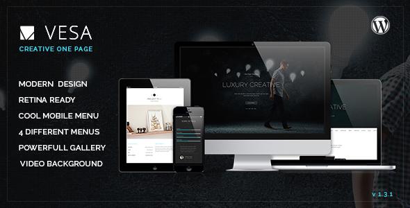 Vesa Responsive Parallax One Page Wordpress Theme - Portfolio Creative
