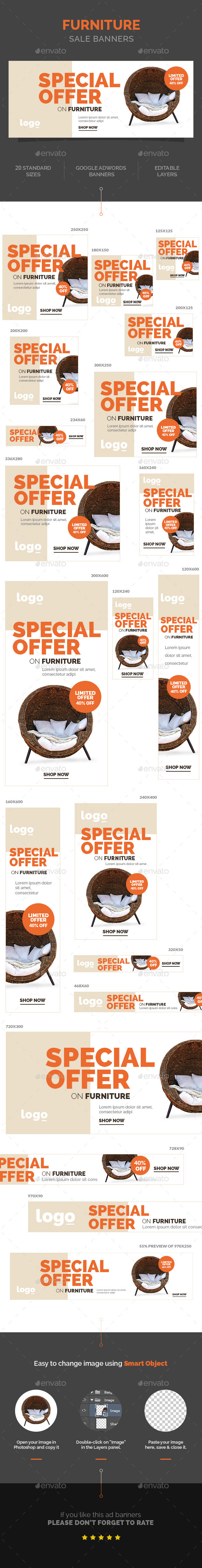 GraphicRiver Furniture Sale Banners 10799036