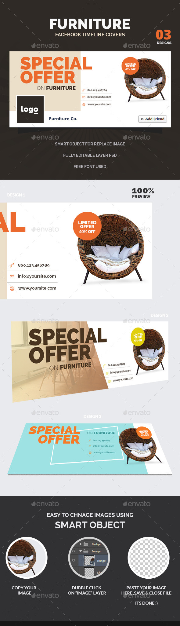 GraphicRiver Furniture Facebook Timeline Covers 10799185