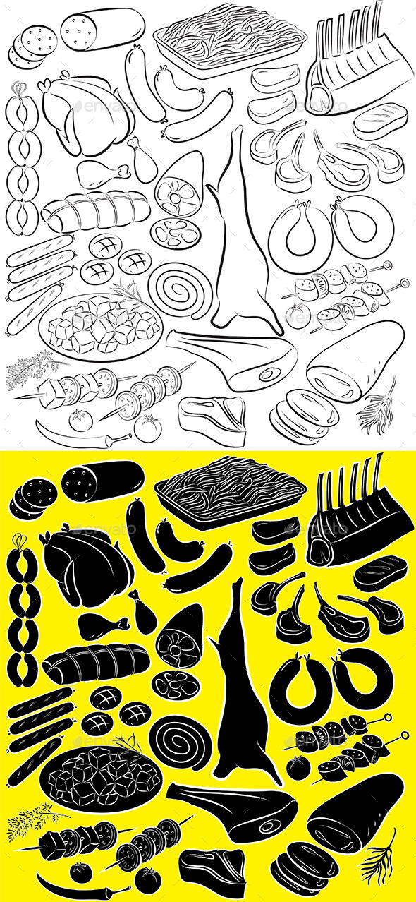 GraphicRiver Meat Product Vector 10799414