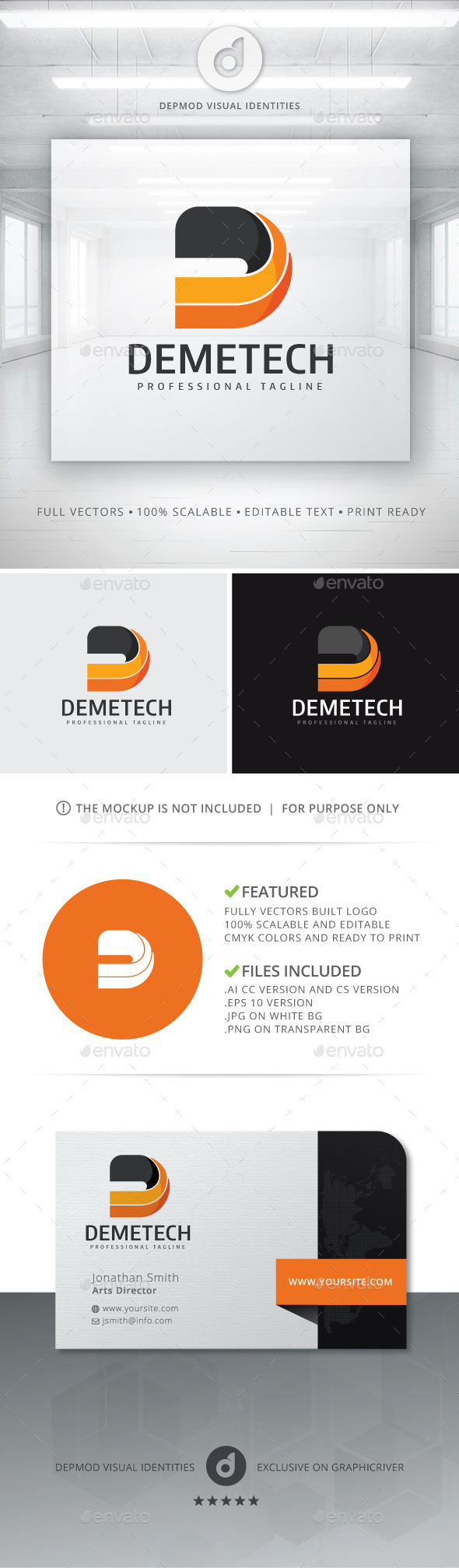 GraphicRiver Demetech Logo 10799424