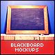 Blackboard / Chalkboard Mock-ups with Chalk Action - GraphicRiver Item for Sale