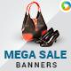 Mega Sale Banners - GraphicRiver Item for Sale