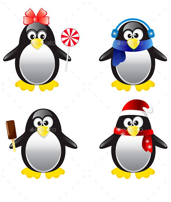 GraphicRiver Penguins 10799520