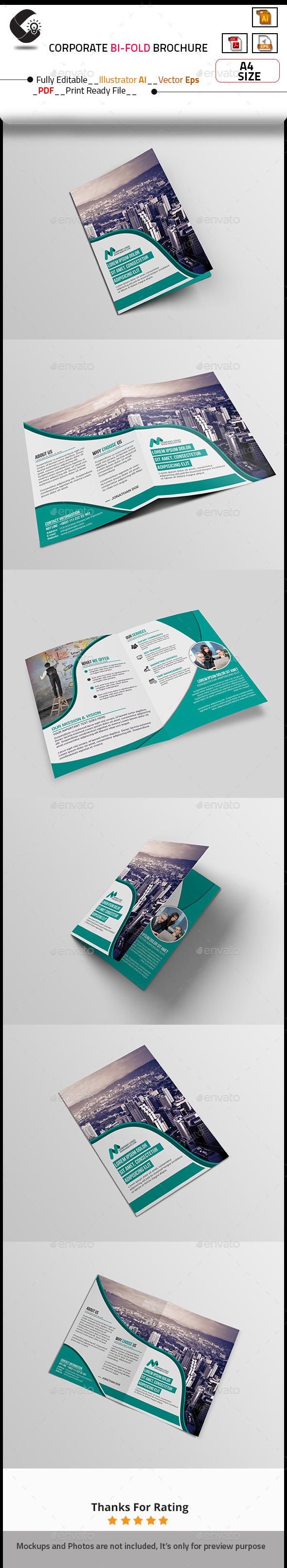 GraphicRiver Modern Creative Bi-fold Brochure 10799580