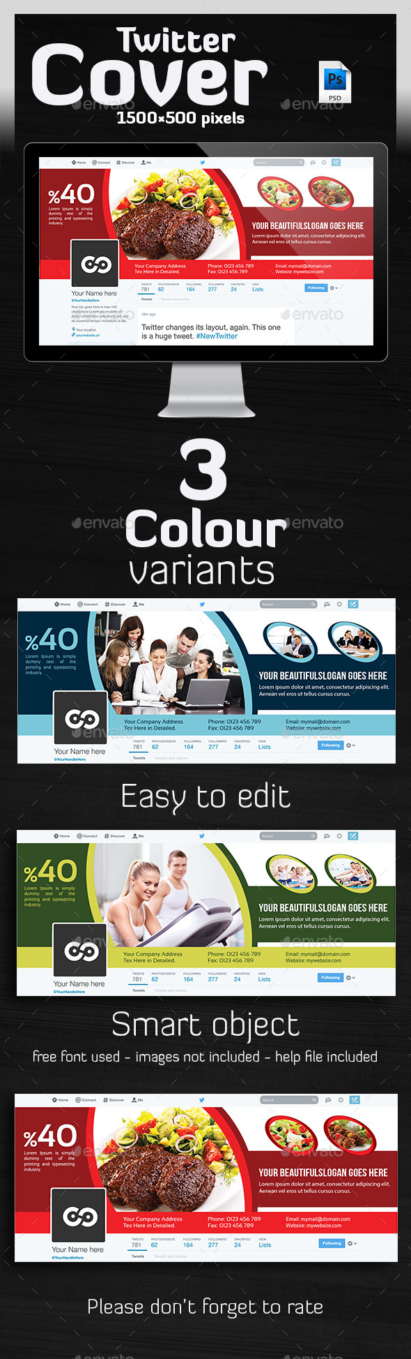 GraphicRiver Multipurpose Twitter Header 10799645