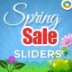 Spring Sale Sliders - 5 Designs - GraphicRiver Item for Sale