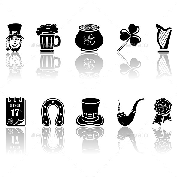GraphicRiver Patricks Day Icons 10799760