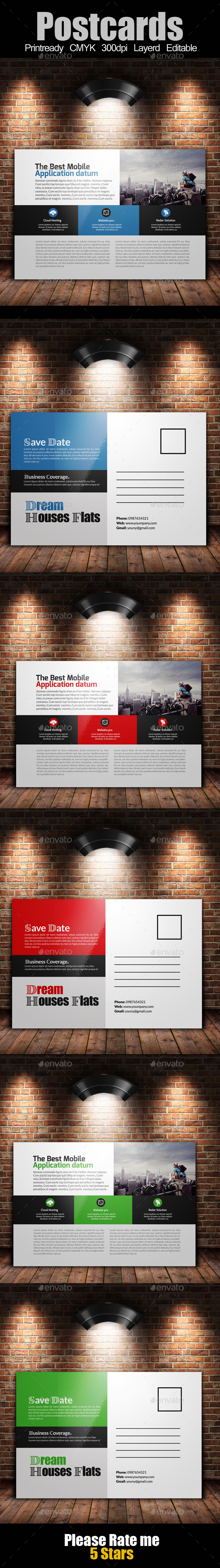 GraphicRiver Multi Use Business Post Cards Template 10799845