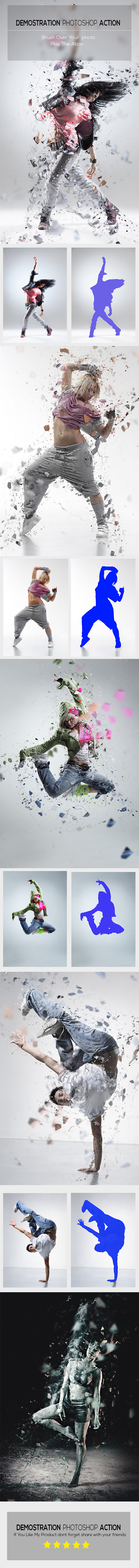 GraphicRiver Demostration Photoshop Action 10799854