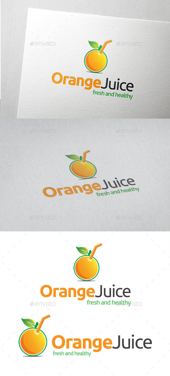 GraphicRiver Orange Juice Logo 10799922