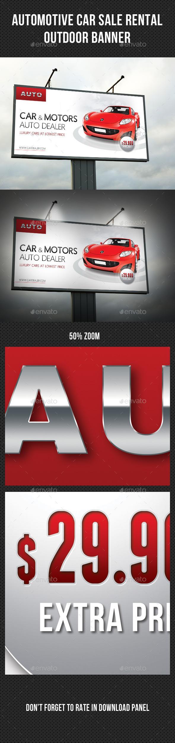 GraphicRiver Automotive Car Sale Rental Outdoor Banner 10799941