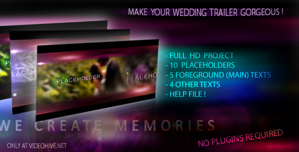 After Effects Project - VideoHive The Wedding Intro 2 134594