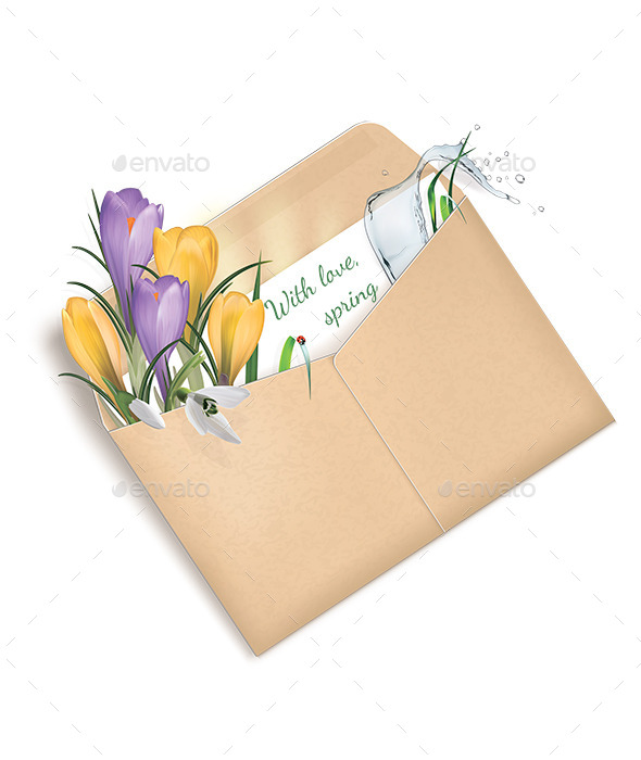 GraphicRiver Spring Envelope With Love Spring 10800800