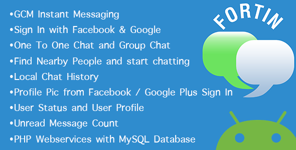 CodeCanyon Fortin GCM Chat Location Group Individual 10801112