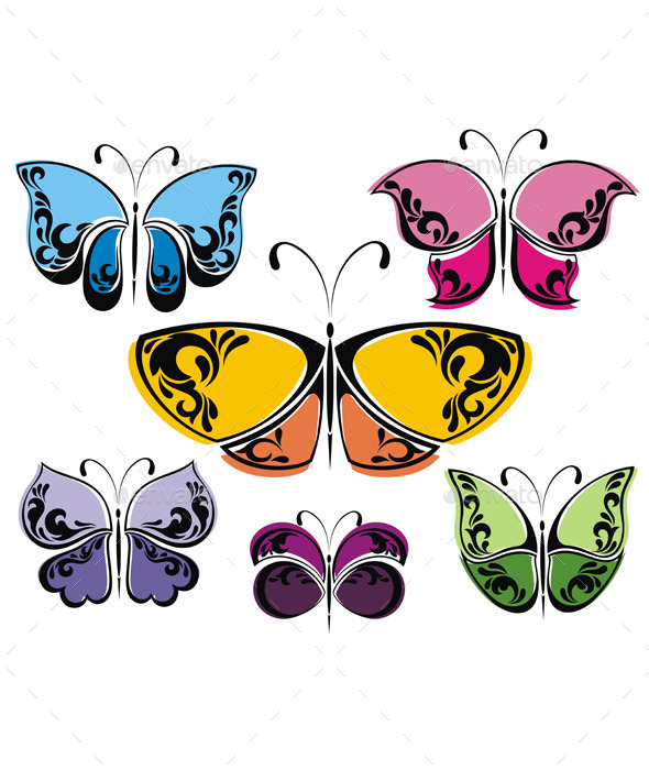 GraphicRiver Butterflies 10801296