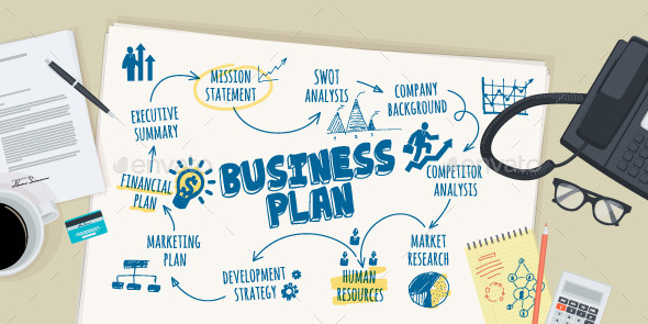 GraphicRiver Flat Design Concept for Business Plan 10801350