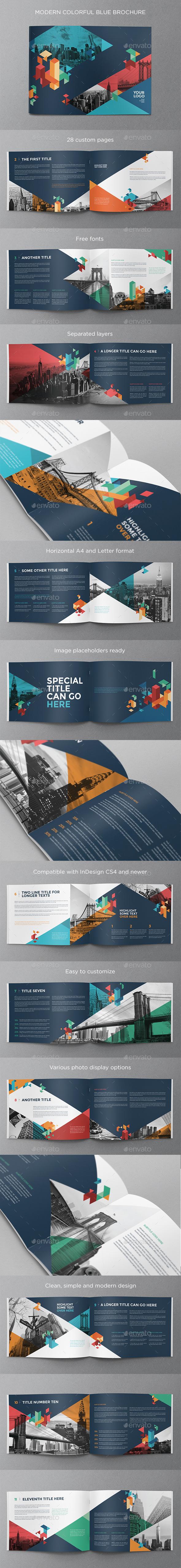 GraphicRiver Colorful Blue Brochure 10801871