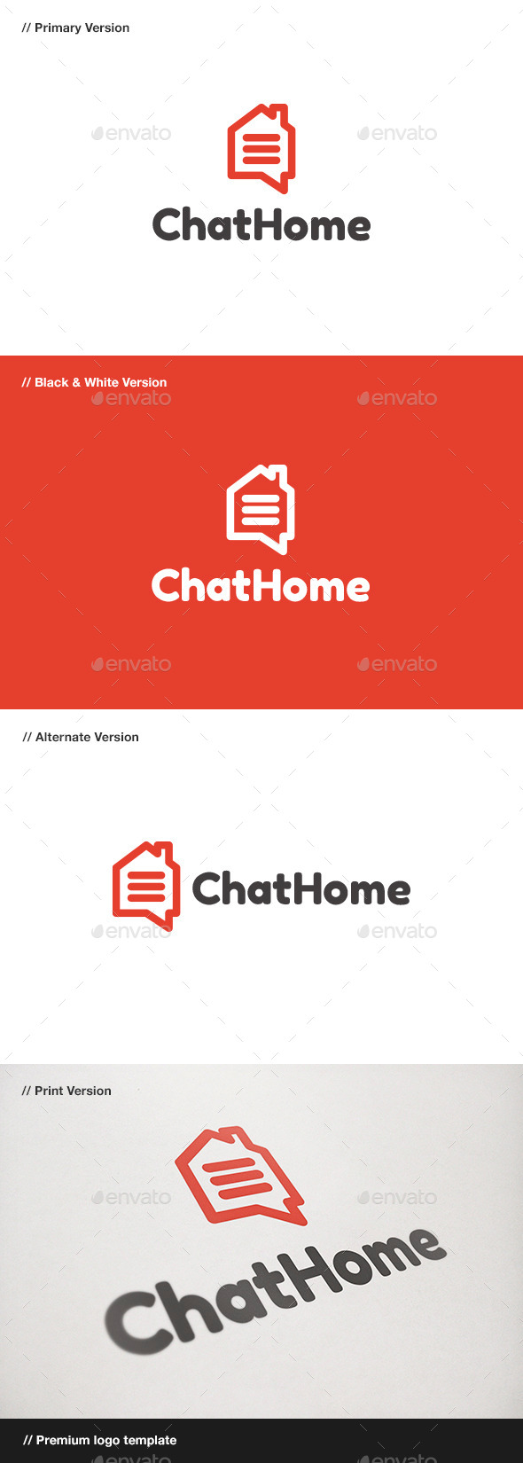 GraphicRiver Chat Home Logo 10801894