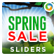 Spring Sale Sliders - 2 Designs - GraphicRiver Item for Sale
