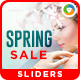 Spring Sale Sliders - GraphicRiver Item for Sale