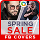 Spring Sale Facebook Covers - 2 Designs - GraphicRiver Item for Sale